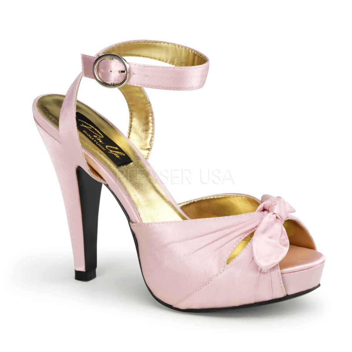 d080858aa0a Pin Up Couture By Pleaser Bettie-04 Baby Pink Satin