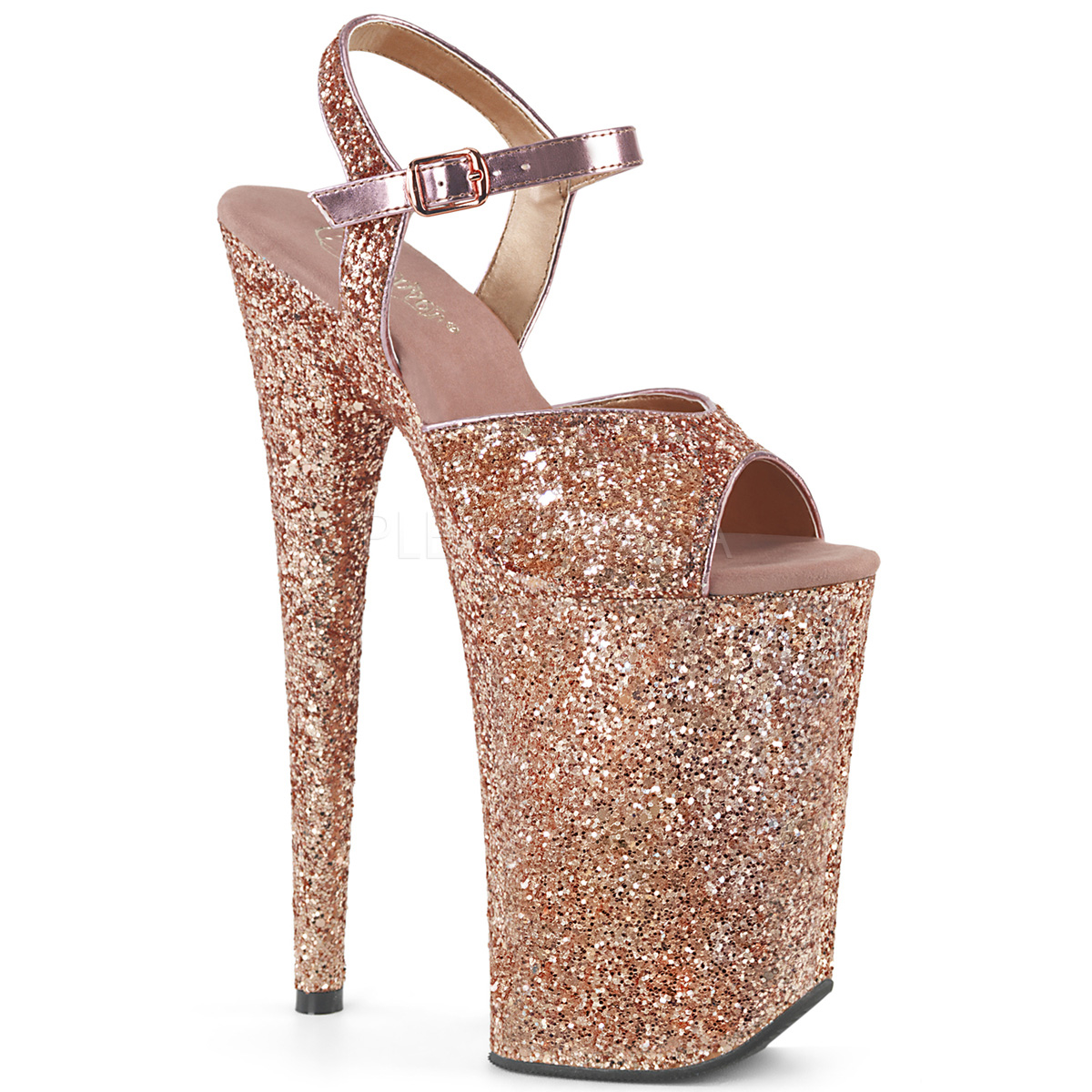 bce77a2faa6e Pleaser Infinity-910LG Rose Gold Glitter - Hot For Heels And More